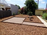 "San Diego patio idea with 3/8"" apache brown crushed rock, compacted"
